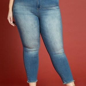 21a1447fe11 Junior Plus Size Hide Your Muffin Top Denim Ankle